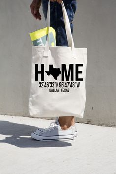Home Canvas Tote Bag -  Order yours at Boardman Printing
