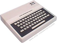 """The Tandy MC 10 (MC means Micro Color) was designed as an """"initiation"""" computer to compete with the Timex Sinclair Floppy Disk, Geek Gadgets, Old Computers, Typewriter, Computer Keyboard, Console, Museum, History, Vintage"""
