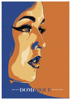 Poster art for Dominique's April 2014 show at the Toff In Town, Melbourne by Sebastian White https://www.behance.net/gallery/16155221/...