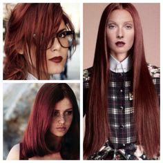 Rosewood Brown   Formula: (on natural level 7)  Roots: Goldwell Topchic 1 part 6RB + 1 part 7RB with 10 Volume  Ends: Goldwell Topchic 1part 7PK + 1part 7RB +1 part 6RB with 20 Volume