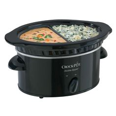 Crock Pot® Double Dipper™ Food Warmer, Black