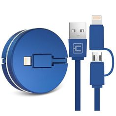 CAFELE 2 in 1 retractable USB charging Cable For iPhone 7 6s plus 5s SE compatible IOS 10 micro Cable for android Samsung S6 S7
