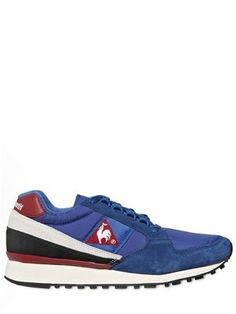 ShopStyle: Le Coq Sportif - Nylon & Suede Vintage Running Sneakers