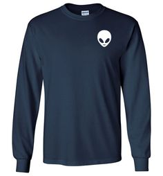 Alien Long SleeveåÊShirt By Tshirt Unicorn Easy to fit in, very comfortable, and will keep you both warm and stylish during the colder months of the year. Double-needle stitching, taped neck and shoul