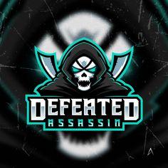 Defeated assassin mascot For sale Game Logo, Sports Logo, Assassin, Anime, Logo Design, Darth Vader, Cartoon, Learning, Illustration