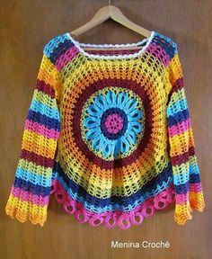 SAco colorido a crochet... Lo tengo que hacer