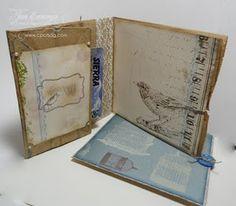 Paper bag card interior