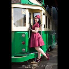 Miss Victory Violet @heartofhaute Manhattan Dress, photographed by @elizabethjphotographer at @motat_museum