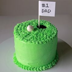 Fathers Day Golf Cake - #cake, #sweets, #dessert