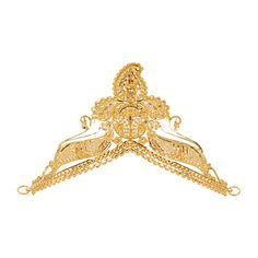 Fancy design #filigree #mukut, a crown-like head ornament in an intricate design, crafted in 22 karat yellow #gold is a popular Indian jewelry accessory worn by Bengali brides. This headpiece is also known as a traditional tiara ornament that can be used to adorn your favorite Hindu Gods. - See more at: https://www.rajjewels.com/bengali-bridal-22-k-gold-filigree-mukat.html#sthash.xchoGnjF.dpuf