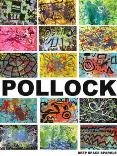 Like Pollock: Art Project for Grades Students listen to the book, Action Jackson, then create a Pollock Painting using a cool technique.Students listen to the book, Action Jackson, then create a Pollock Painting using a cool technique. Kindergarten Art, Preschool Art, Jackson Pollock Art, Arte Elemental, Pollock Paintings, Art Paintings, Classe D'art, Art Du Monde, First Grade Art