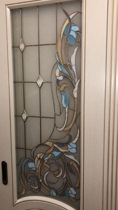 Stained Glass Door, Stained Glass Flowers, Stained Glass Designs, Stained Glass Panels, Stained Glass Projects, Stained Glass Patterns, Leaded Glass, Mosaic Glass, Glass Painting Designs