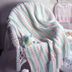 Charming Striped Baby Wrap Crochet ePattern