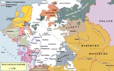Holy Roman Empire c. 1700, just prior to the War of Spanish Succession. Lorraine is liberated again but France's occupation of Alsace all but surrounds the duchy. The writing was on the wall. It would only be a matter of time before the duchy was finally absorbed by France.