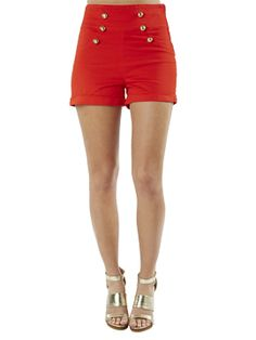 High Waist Sailor Shorts Arden B. 4th of July Style #Patriotic #RedWhiteAndBlue #StarsAndStripes