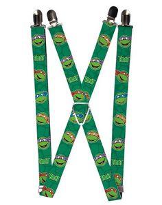 Teenage Mutant Ninja Turtles Faces Suspenders