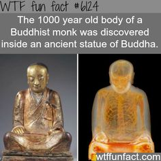Buddhist monk discovered inside a statue of Buddha - WTF fun facts