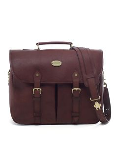 Football Leather Briefcase - Brooks Brothers