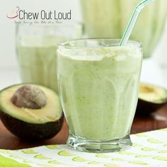 Avocado Coconut Smoothie Shake (5-Ingredient) - Chew Out Loud