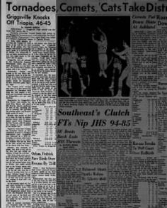 Griggsville Knocks Off Triopia, 46-45 1971