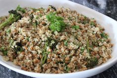 Zesty Broccoli, Lentils & Quinoa - These Things I Love