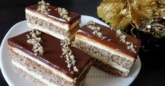 Raspberrybrunette: Orechovo-karamelový zákusok s čokoládovou polevou ganache Slovak Recipes, Czech Recipes, Sweet Desserts, Just Desserts, Delish Cakes, Bacon Roll, Opera Cake, Cake Bars, Baked Goods