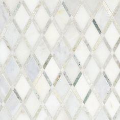 Carrara White Caribbean Green Marble Mosaic - 12 x 12 - 100051770 - Flooring Decor Diy Interior, Bathroom Interior Design, Kitchen Interior, Beadboard Backsplash, Herringbone Backsplash, Bathroom Countertops, Backsplash Ideas, Backsplash Wallpaper, White Kitchen Backsplash