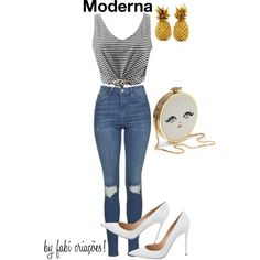 Criativa by fabipcandido on Polyvore featuring moda, Topshop and Gianvito Rossi