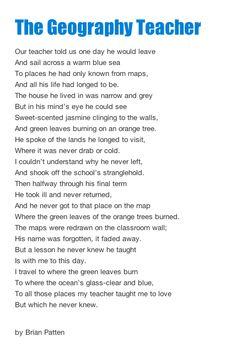 Geography Teacher poem...