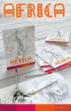 PREORDER Hard Copy Coloring book AFRICA  Coloring by Monacoloring