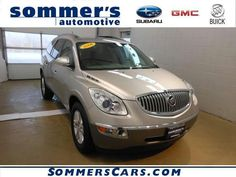 Used Car of the Week! (5/13/13) 2008 Buick Enclave CX SUV $22,990 WAS $25,995! Buick Certified! GREAT MILES 38,781! Third Row Seat, iPod/MP3 Input, Satellite Radio, CD Player, Dual Zone A/C, Rear Air, Captain's Chairs, Aluminum Wheels, Head Airbag, And More! CALL GORDY TO LEARN MORE AND TEST DRIVE!