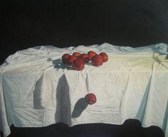 SERIE RETENIENDO EL TIEMPO-MANZANAS.,óleo sobre lienzo de 100x120 y bastidor de 3,50cm.