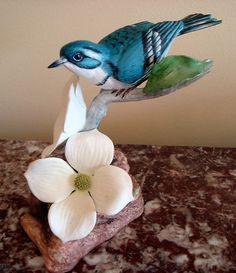 BOEHM Bone Porcelain CERULEAN WARBLERS Bird #200-80
