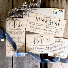 Specifications: La Pomme et la Pipes Eco-Friendly Modern Calligraphy Wedding Invitation Suite. Made from my trademark environmentally friendly