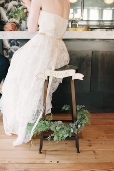 A chair for the bride: http://www.stylemepretty.com/2013/10/14/after-wedding-inspiration-from-michelle-edgemont-brklyn-view-photography/ | Photography: Brklyn View - http://www.brklynview.com/