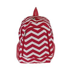 Personalized Red Chevron Backpack School Baby by adifferentlook, $25.00