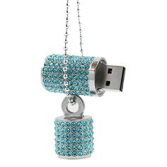 CHUYI Cute Rhinestone Diamond Crystal Glitter Cat Shape 32GB USB 2.0 Flash Drive