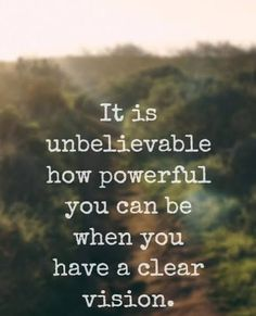"""It is unbelievable how powerful you can be when you have a clear vision."" - Lewis Howes on the School of Greatness podcast Positive Quotes, Motivational Quotes, Inspirational Quotes, Faith Quotes, Life Quotes, Favorite Quotes, Best Quotes, Vision Quotes, Wealth Affirmations"