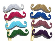 Photo Booth Props GLITTER Mustache Photobooth by PartyGoodies