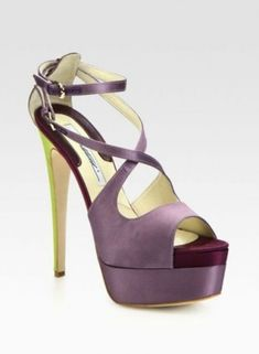 Sandali in satin in color block Brian Atwood