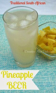 Pineapple Beer ~ Delicious South-African traditional drink, usually homemade. Not sure if it's really still beer but worth a look! Cocktails, Cocktail Drinks, Summer Drinks, Fun Drinks, Beverages, Beer Brewing, Home Brewing, Pineapple Beer, South African Recipes