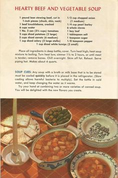 vintage recipes with pictures at DuckDuckGo Retro Recipes, Old Recipes, 1950s Recipes, Cookbook Recipes, Vintage Recipes, Baking Recipes, Dinner Recipes, Family Recipes, Drink Recipes