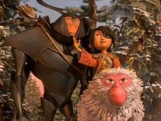 Kubo, Monkey and Beetle on their quest from Kubo and the Two Strings