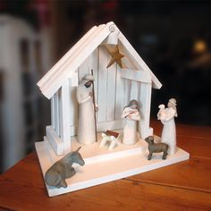 Every Christmas I remember I've been wanting this set, I gotta try to remember when I got funds. These figurines are SO beautiful. My grandma would be so happy for me to have a nativity set. I made her a clay Baby Jesus when hers went missing, he looked like the willow tree kind. missing my Grams