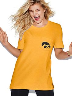 University of Iowa Campus Short Sleeve Tee PINK