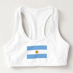 Patriotic Argentinian Flag Sports Bra - womens sportswear fitness apparel sports women healthy life