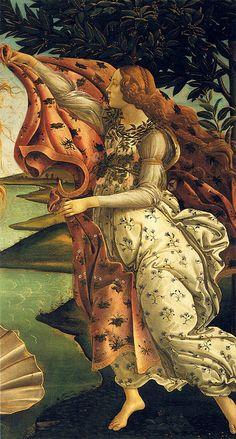 Botticelli: Birth of Venus, detail Hore   Flickr - Photo Sharing!