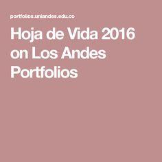 Hoja de Vida 2016 on Los Andes Portfolios