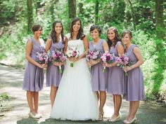 Aria Bridesmaid Dresses in Mulberry Georgette. Made in USA. www.ariadress.com