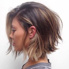 If I ever cut my hair short again. Loving the highlights too, but maybe in dark red.